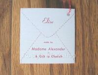 Made For 1957-1962 Madame Alexander ELISE Dolls, A Wrist Hang TAG