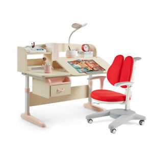 Multi-Functional Ergonomic Kids Desk and Chair Set Children Height Adjustable