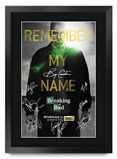 Breaking Bad Signed Pre Printed Autograph A3 Photo Gift For a Bryan Cranston Fan