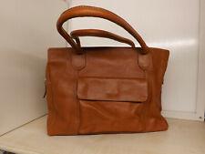 Cognacfarbene Leder Handtasche von Zanon & Zago