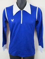 Vtg Erima 80s Football Shirt Trikot Retro Blue Soccer Jersey Vintage S Small 3/4