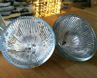2 er Set Glas Schwimmkerzenhalter 8cm Glas Silber Schwimmschalen Bauernsilber