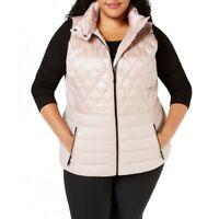 CALVIN KLEIN Women's Performance Plus Size Quilted Puffer Vest Jacket Top TEDO