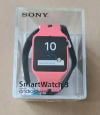 Sony SmartWatch 3 SWR50 Stainless Steel Case Black+Pink Straps