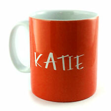ORANGE PERSONALISED WITH ANY NAME OR TEXT GINGER GIFT MUG CUP PRESENT LOVER