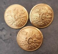 3 old swedish railway-man buttons! by Sporrong LOOK!