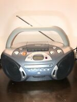 RCA RCD152E Portable Boombox CD Cassette Player FM/AM Radio TWIN BASS Tested!!!