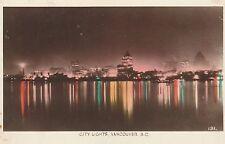 "*Canada Postcard-""The City Lights"" ...Vancouver, B.C.  (U1-866)"