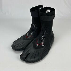 O'Neill Mens Heat Series 3mm Black Split Toe Water Sports Booties Shoes Size 11