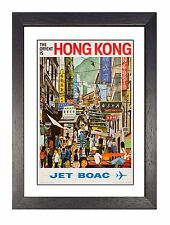 BOAC - Hong Kong Vintage Airline Advert Print Airways Old Photo Retro Poster