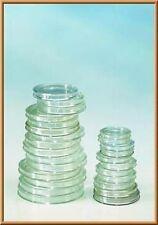 100 Lindner Münzkapseln, 10x10er Pack Ihrer Wahl Größe 14-50mm