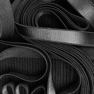 Black Bra Making Strap Elastic Satin Semi Sheen Plush Back 10mm Trim Sew