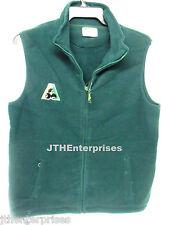 Polar Fleece Vest BA Logo  BOTTLE GREEN keep warm at lawn bowls easy care