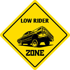 "*Aluminum* Low Rider Zone Funny Metal Novelty Sign 12""x12"""