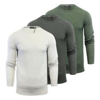 Pull Homme Brave Soul Carnap Tricot Coton Pull Col Rond