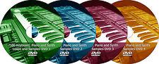 Piano Synth Keyboard Loops + Samples, 7500 audio music DJ loop sample 4 DVD set