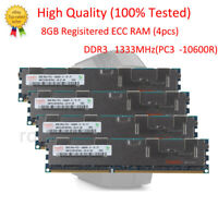 Hynix 32GB 4X 8GB DDR3 1333MHz PC3-10600R RDIMM ECC Server Memory RAM 240pin @RS