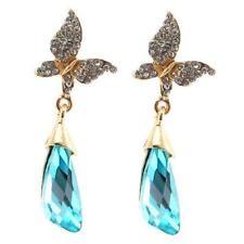 Crystal Butterfly Alloy Stone Costume Earrings
