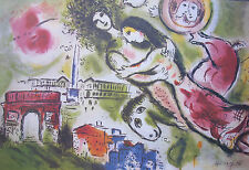 "MARC CHAGALL ""ROMEO and JULIET"" Signed Numbered Lithograph Art"