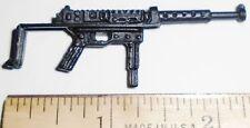 BIN A27  G I JOE Accessory            Black Machine Gun with Sliding Stock