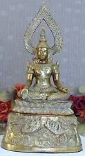 Buddha Skulptur Statue Religion Buddhafigur Feng Shui Figur Thai Messing gold