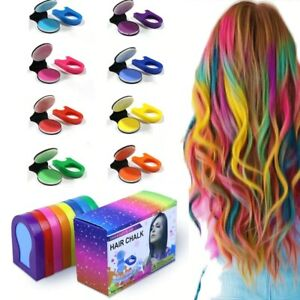 8 Hair Color Portable Hair Chalk Powder DIY Temporary Pastel Hair Dye Cosplay