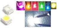 100 LED SMD 3528 ALTA LUMINOSITA' BIANCHI BLU ROSSO VERDE Diodi luce PLCC