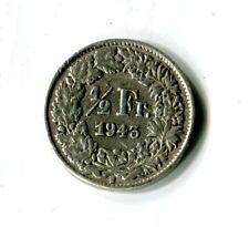 1/2 Schweizer Franken 1943 Schweiz Stehende Helvetia Silber M_1085