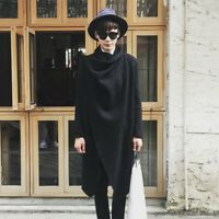 Men Korean Irregular Personality Woolen Coat Jacket Cape Cloak Loose Autumn Chic
