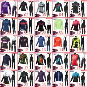 New Women cycling thermal fleece jersey bib pants set winter warmer bike uniform