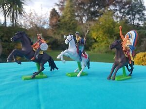 Britains Mounted Cowboy & Indians Horseback Horses On Stands