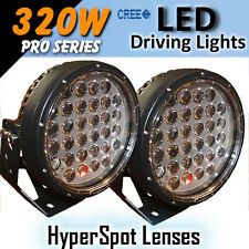 """LED Driving Lights 9"""" 320w """"Hyper Spot"""" PRO Series CREE 12/24v """"Awesome"""""""