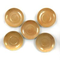"""Vintage Hand-Painted Saucers with Iridescent Glaze Set of 5 Made In Japan 4 1/2"""""""