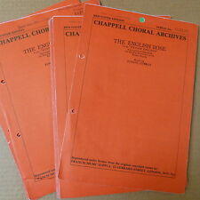 choral music set THE ENGLISH ROSE S.S.A. fem.voices, GERMAN, 35 parts