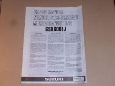 SUZUKI GSX600 FJ GENUINE SET-UP MANUAL