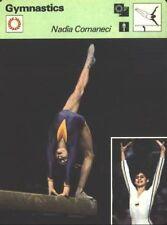 1977 Sportscaster Card - Nadia Comaneci - Romania