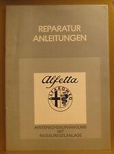 Alfa Romeo * Alfetta * Hinterachsaufhängung mit Niveauregelanlage