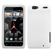 White Rubber SILICONE Skin Soft Gel Case Phone Cover Motorola DROID RAZR MAXX