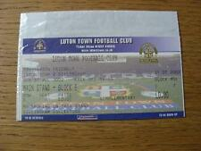 31/07/2002 Ticket: Luton Town v Gillingham [Friendly] (Blue, Complete). No obvio