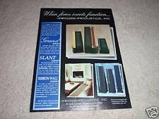 Apogee Acoustics Grand,Slant,Ribbon Series Ad fr 1992