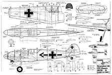 MODELHOB ME109 planes de modelo de escala de línea de control