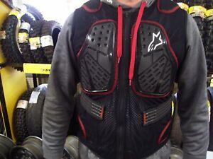 Alpinestars Bionic Back Protector Full Armor Vest Vented Zip-Up