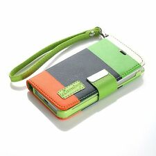 For Apple Iphone SE 5, 5s PU Leather Card Holder Wallet Flip Case Cover Color-5