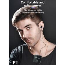 BT 5.0 Wireless Headset Retractable Earphone Headphone w/ Clip MIC F1
