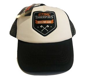 Stihl Timbersports Genuine Clothing Hat Cap Kiss My Axe Embroided RRP $49.99