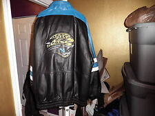 Vintage Jacksonville Jaguars Throwback Leather Starter Jacket xxl 2xl
