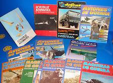 Lote de revistas 13 revistas AERONAUTICA-AVIONES DE GUERRA-MAQUINAS DE GUERRA