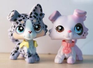 Taylorlps lps Collie Dot Collie Ice Cream Collie OOAK With LPS Accessories lot