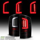 Black Smoke 2002-2006 Dodge Ram 1500 03-06 2500 3500 Led Tube Tail Lights Lamps