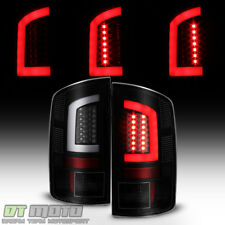Black Smoek 2002-2006 Dodge Ram 1500 03-06 2500 3500 LED Tube Tail Lights Lamps